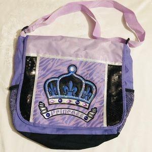 NWOT Princess Messenger Bag with Adjustable Handle